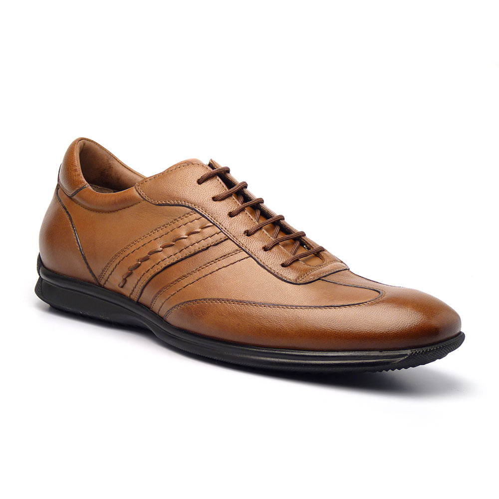 Sapato Casual Masculino em Couro Pelica Vegetal GTI 9000