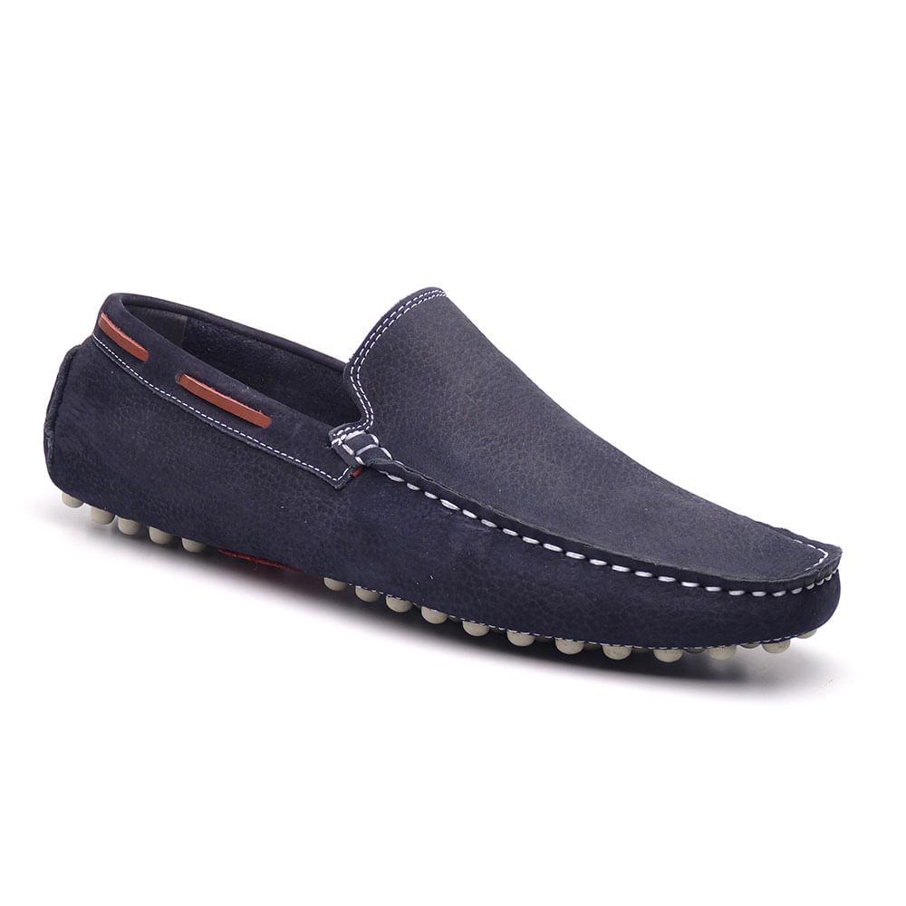 Sapato Mocassim Masculino em Nobuck Rio JCL 8100