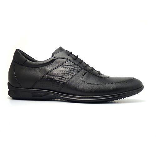 Sapato Casual Masculino em Couro Pelica Vegetal e Coral GTI 9002