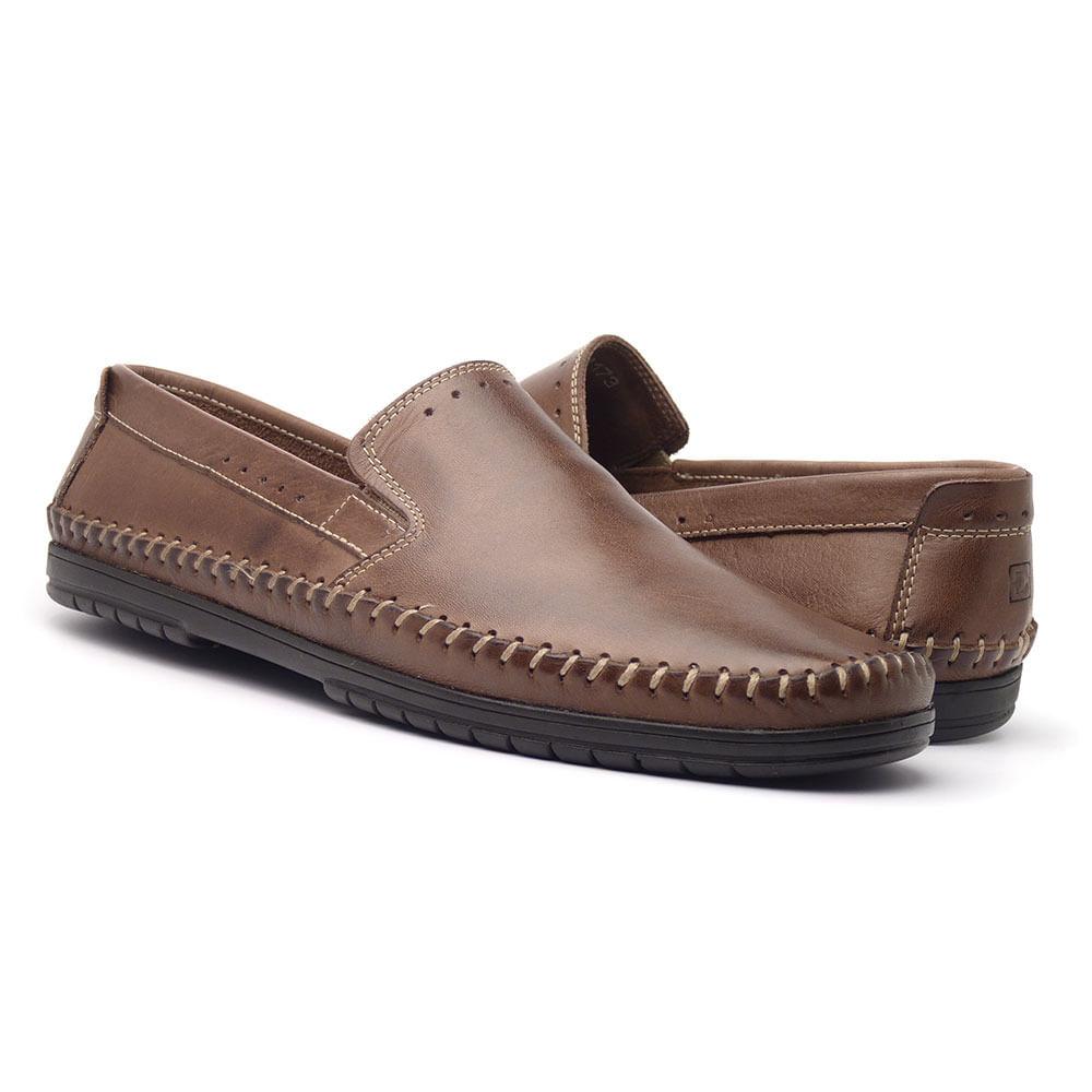 Sapato-Mocassim-Marrom-Masculino-em-Couro-JCL-700