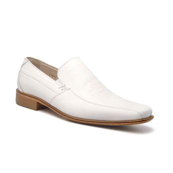 Sapato Branco Masculino em Couro Pelica Vegetal IJ 34015