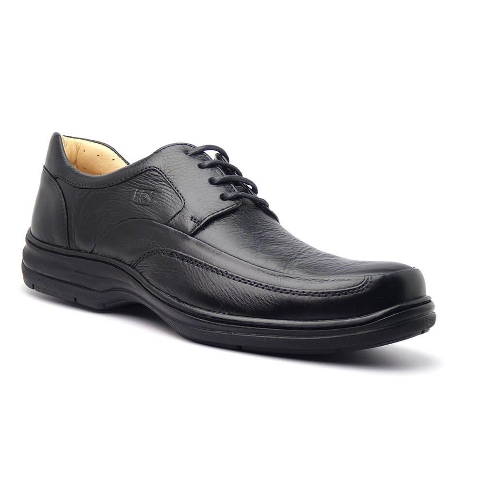8e670e6ebd0 Sapato Casual Masculino Couro Soft Cadarco Preto SLU13827   Sapato Casual Masculino Couro Soft Cadarco Preto SLU13827 ...
