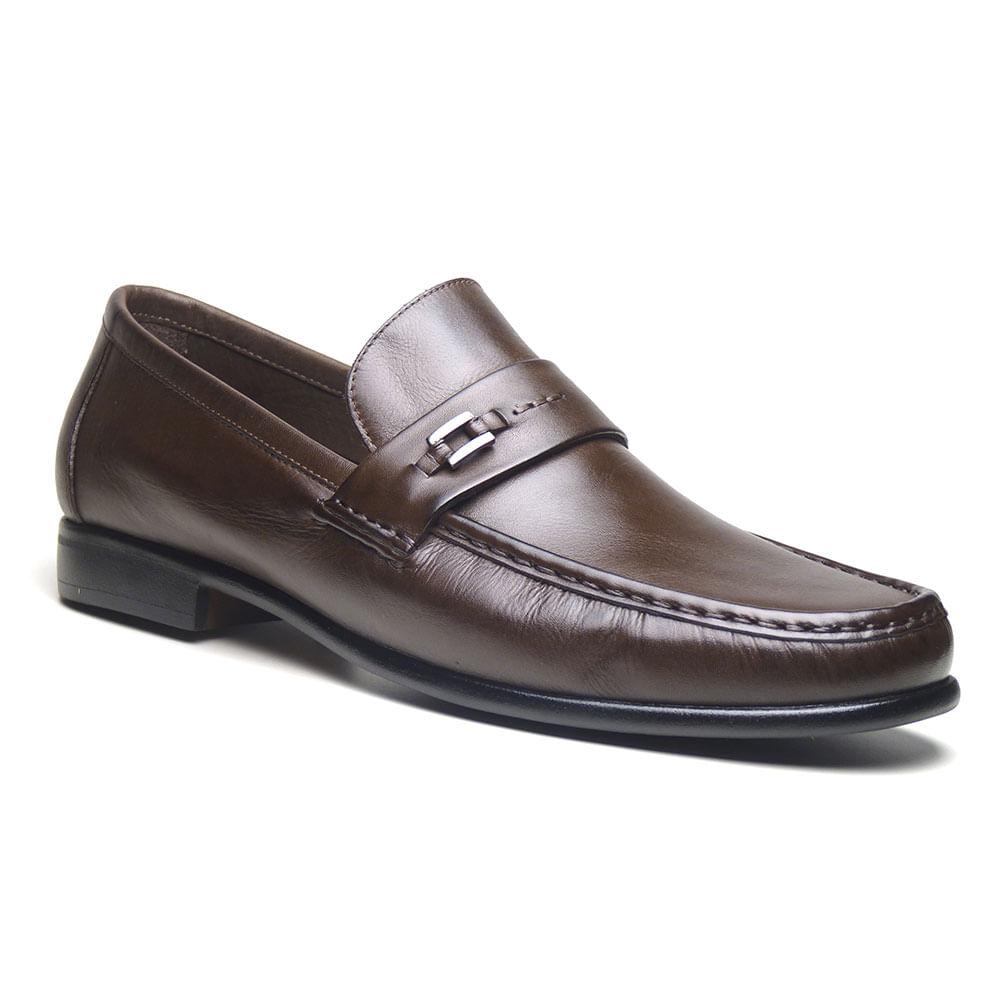 66d7308e48 Sapato Mocassim Masculino Di Pollini Couro Tivoli LEM 551 - DiPollini