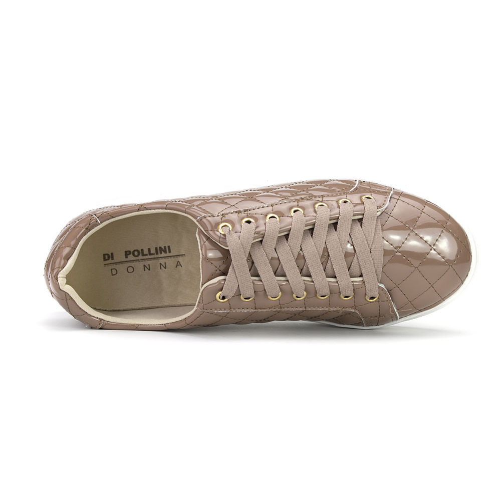 4e9c040a2 Tenis Sneaker Feminino Di Pollini Donna em Matelasse AZ 7643-16420 ...