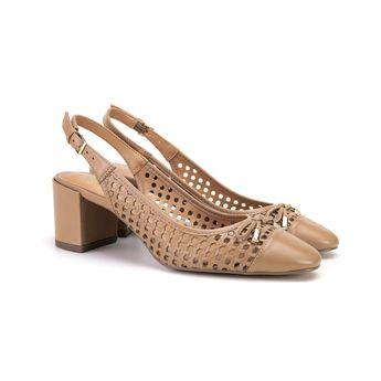 c6c082b9cd Sapato Feminino Di Pollini Donna em Couro Vazado TB 5069386